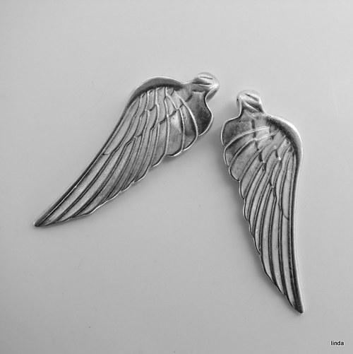 Přívěsek * Andělská křídla * 2ks