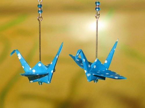 Modráčci - náušnice