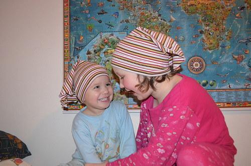 A co, že máme pyžama! Šátek sluší! - vel. 3-6 let