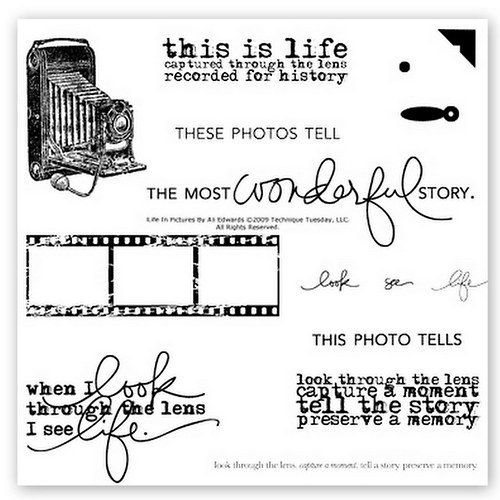 Sada silikonových razítek TT / Life in Pictures