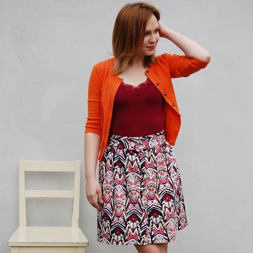 Dámská sukně Lola - rubínová