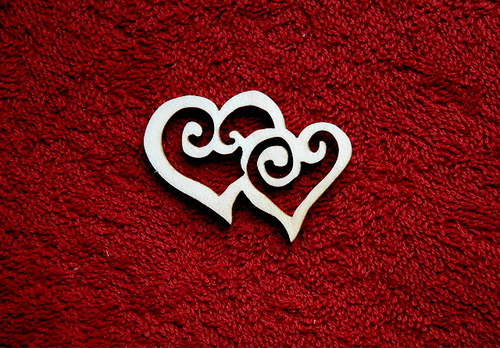 2D výřez 2spojená srdce ozd.-v.4x6cm