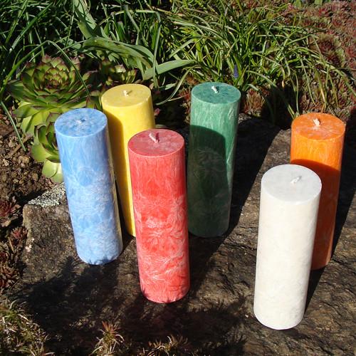 Palmová svíčka  válec 14cm - v nabídce 13 barev