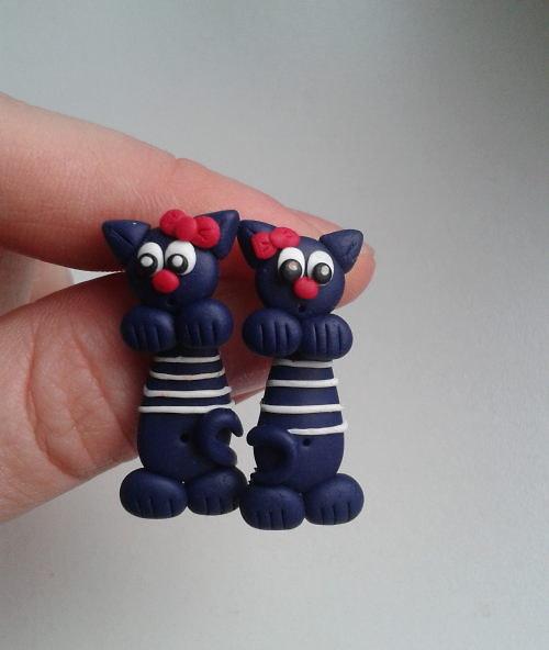 Kočičky skrz ucho - 1 pár  - Exclusive