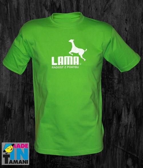 Pánské limetově zelené tričko s Lamou