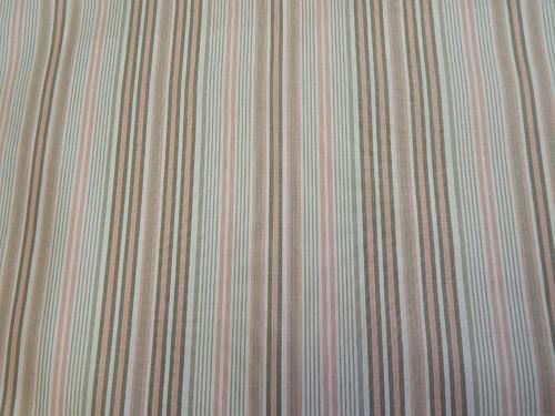 Látky - Proužky, šedá, hnědá, bílá, růžová