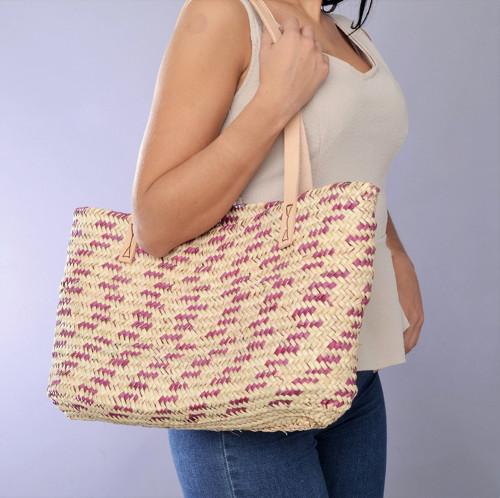 Letná prírodná taška cez rameno