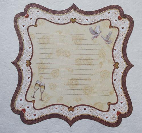 Glitrový scrapbook papír - svatba 93