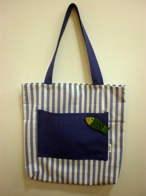 Nákupní taška s broží - rybka