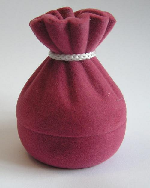Sametová krabička na šperky -  pytlík fialový