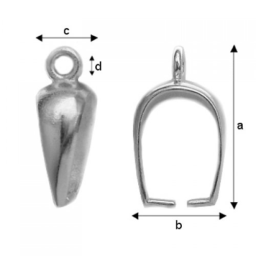 Šlupna stříbro Ag 925/1000