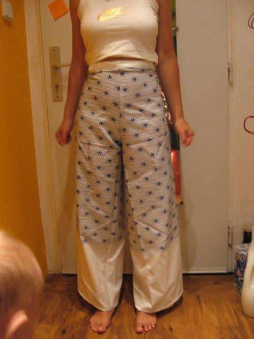 kalhoty zavinovací