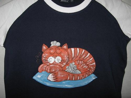 NÁŠ MOUREK MÁ MYŠKY RÁD (104) - dětské tričko
