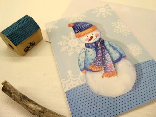 Sněhulák. přání a obrázek 2v1