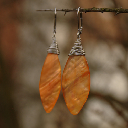Perleťové listy oranžové, chir. ocel