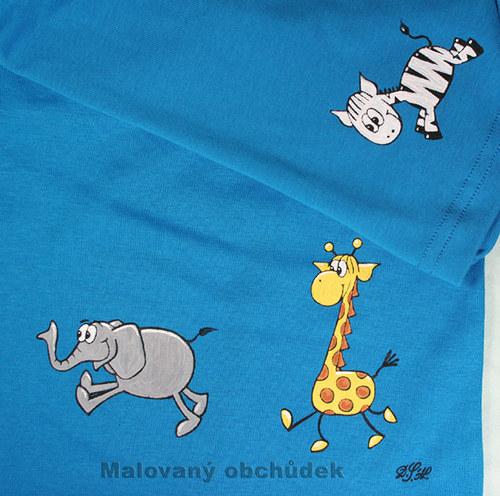 Ručně malovaná trička na přání