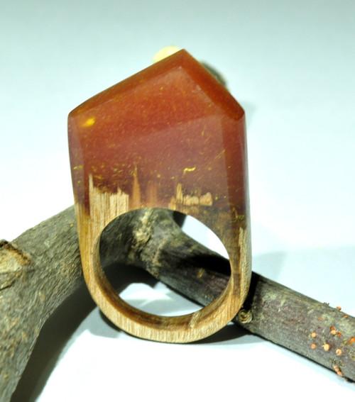 Drevený prsten Bordô