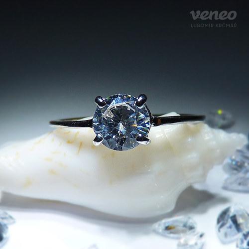 Diana 6 - prsten s čirým zirkonem