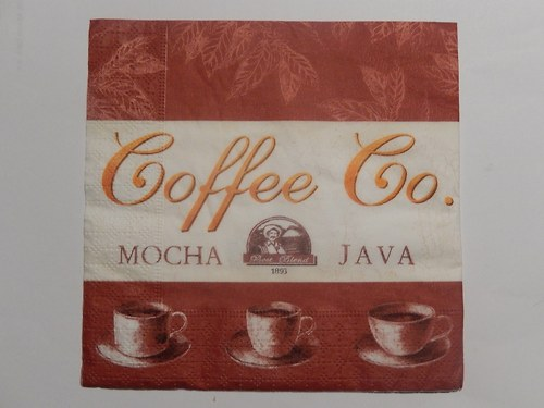 Ubrousek na decoupage - coffee co.