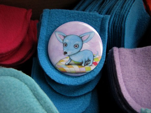 Modrá čivava... zrcátko s futrálkem