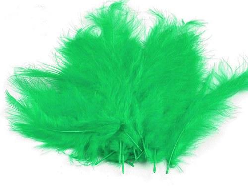 Pštrosí peří délka 120-170mm 20ks zelená