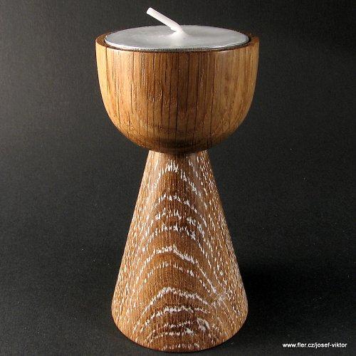 BABÍ LÉTO dřevěný svícen