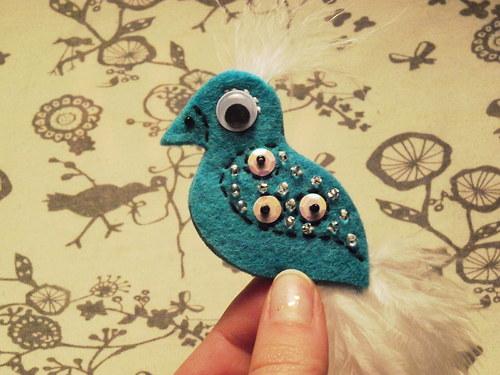 Ptáček - Modrobílý