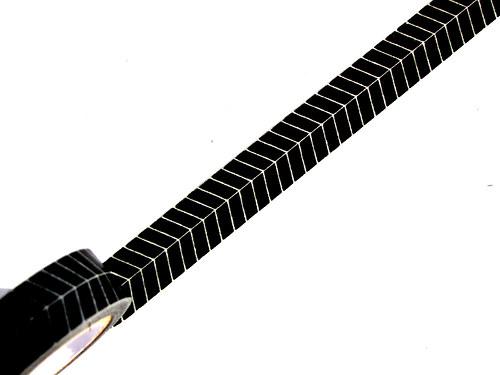 Páska: Černý stromečkový vzorek (1,5 x 33 cm)