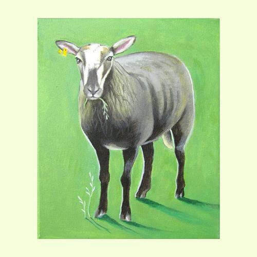 Černá ovce rodiny - akryl na plátně