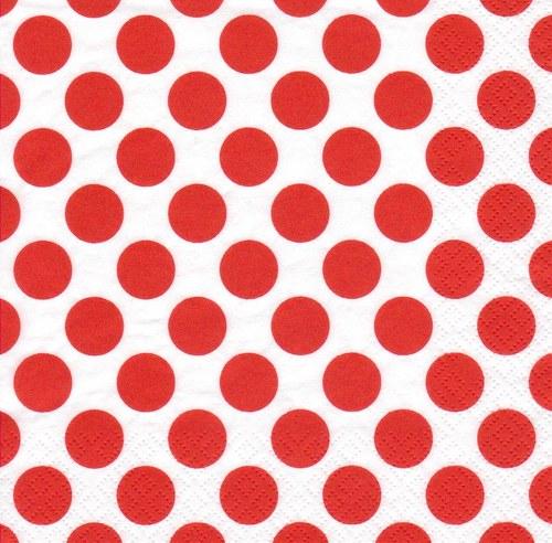 Ubrousek - červené puntíky
