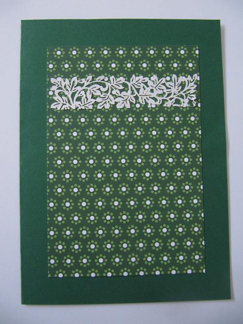 krajka na zelené