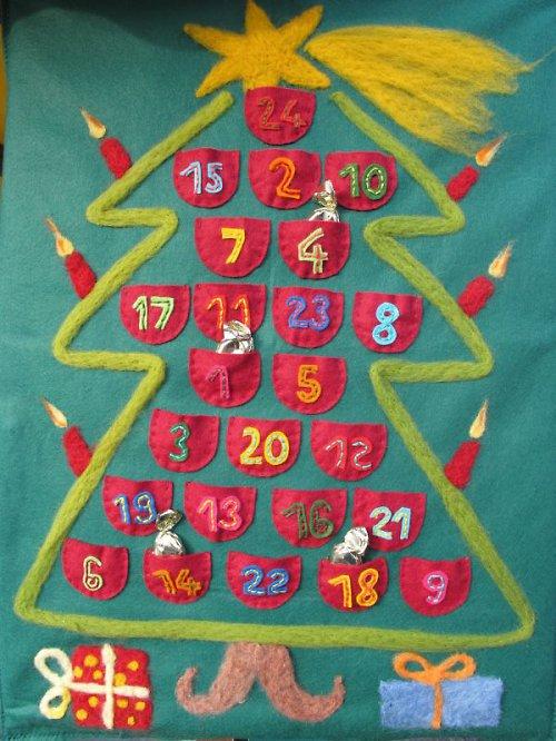 Adventní kalendář filcový