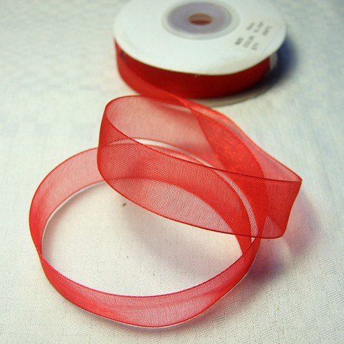 Stuha š. 1,6 cm; d. 20 m - červená
