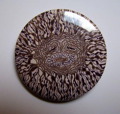 SLUNCE - autorská placka - button - 44 mm