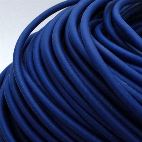 Tmavě modrá šňůrka - dutinka / 5 mm