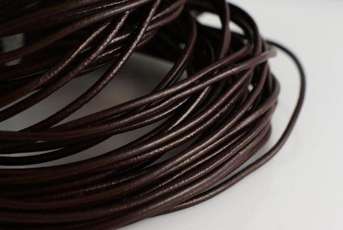 kožený řemen kulatý, 3mm, 1m