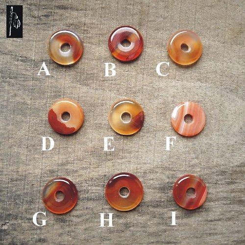 Donut achát červený, 25 mm, C