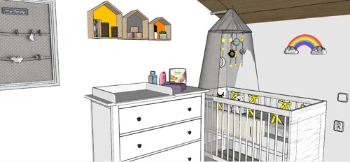 Grafický návrh ve 3D - Dětský pokoj