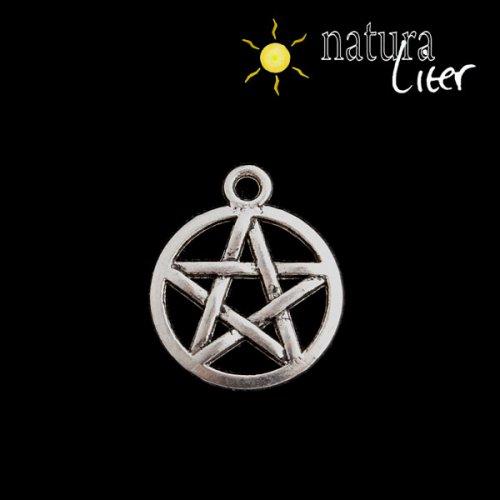 Trámcový pentagram - přívěsek starostříbro 20x17mm