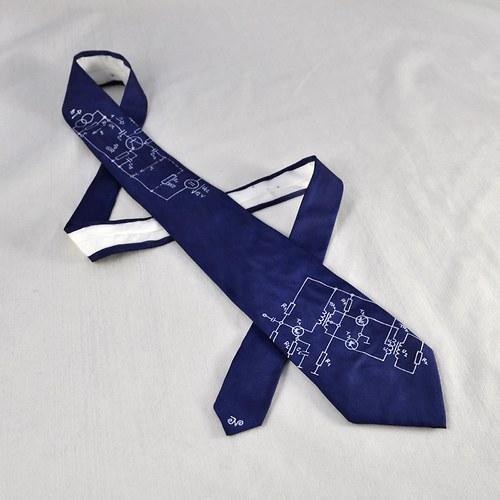 Elektrikářská kravata - tmavě modrá
