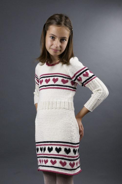 Popis - návod na pletené dívčí šaty Alice