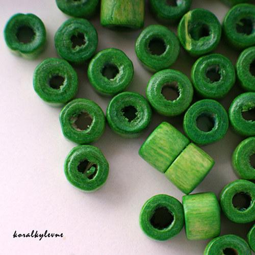 Donut dřevěný světle zelený 40ks!