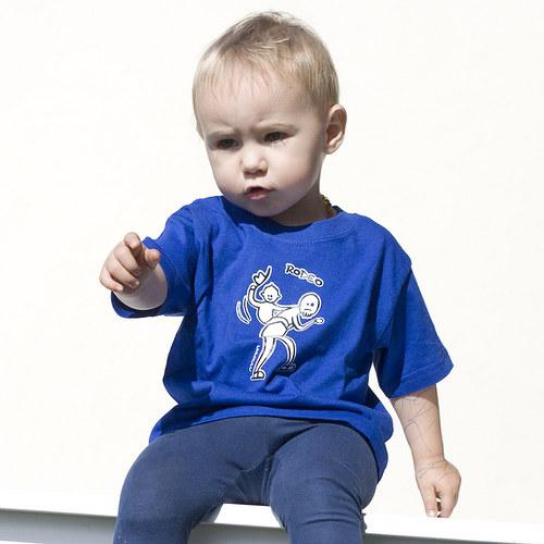 Originální dětské triko - Rodeo na tatínkovi