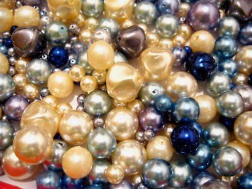 1404064/Mix modro/smetanových perlí, 50g