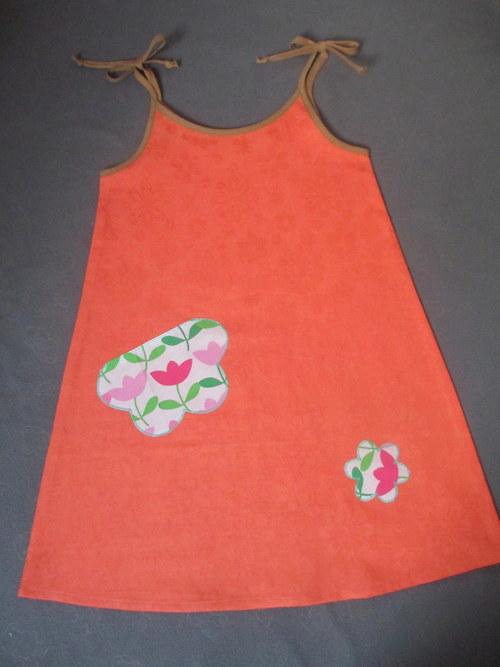 Letní šat., nebo zástěrka  vel.110- 116 -výprodej