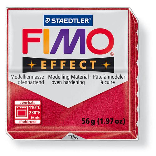 Fimo effect metalická rubínová 28