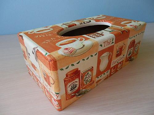 Krabička na kapesníky Tea Time