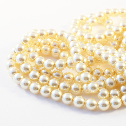 Voskové perle 6 mm krémové 400 ks