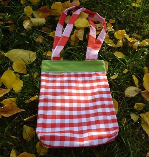 Pestré kostkované tašky  - menší varianta pro děti