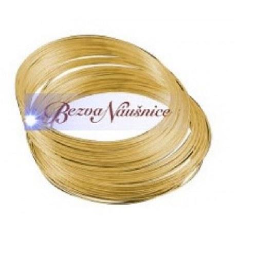 Paměťový drát - náramkový 5,5cm - barva zlatá